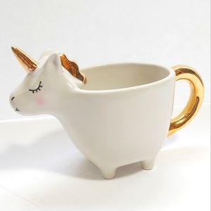 Indigo unicorn mug 🦄 white and gold